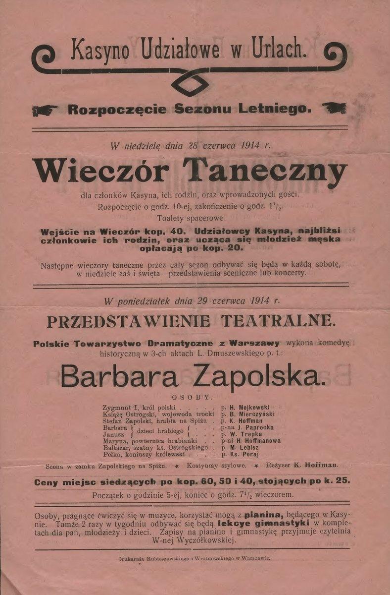 Zabawa taneczna - Urle 1914