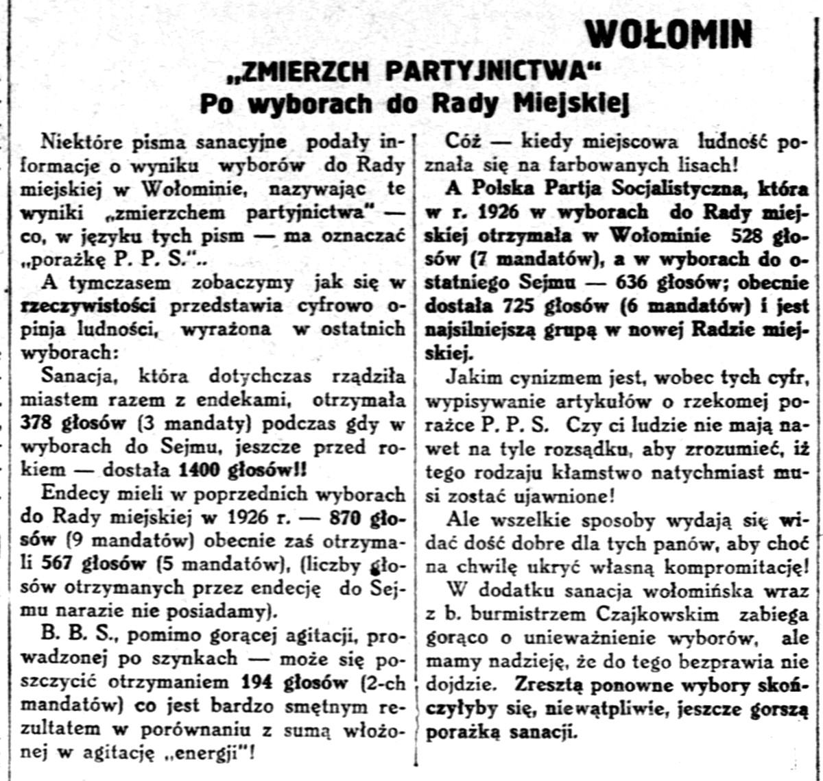 Robotnik - organ Polskiej Partyi Socyalistycznej., R.35, nr 116 (26 kwietnia 1929)