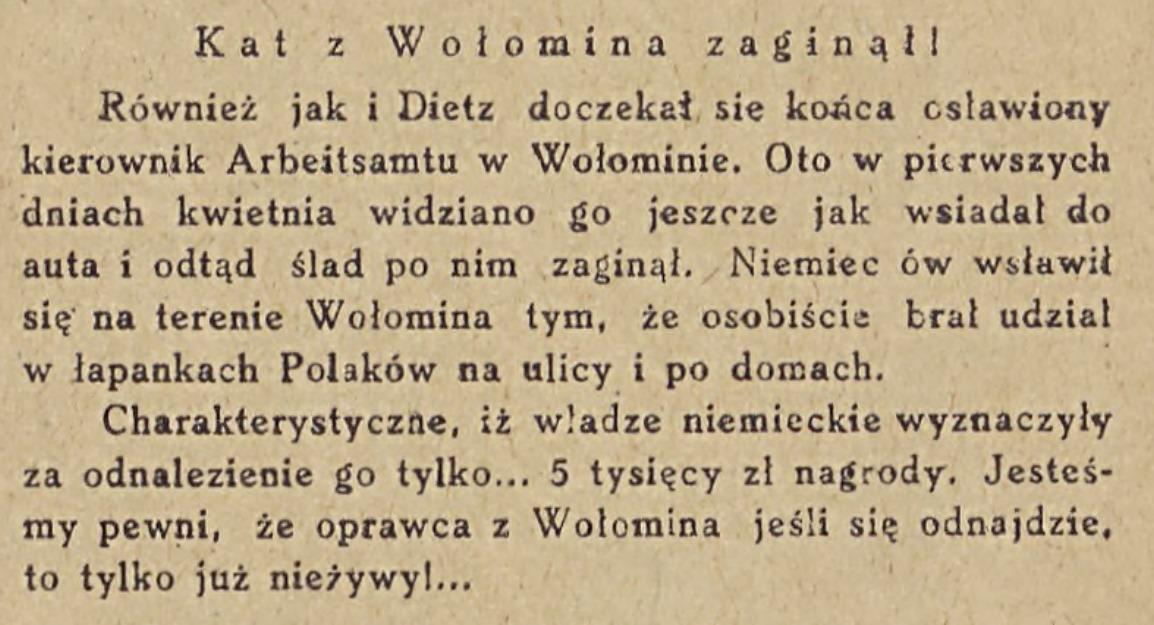 Z Frontu Walki Cywilnej - biuletyn informacyjny. 1943 (22.IV)
