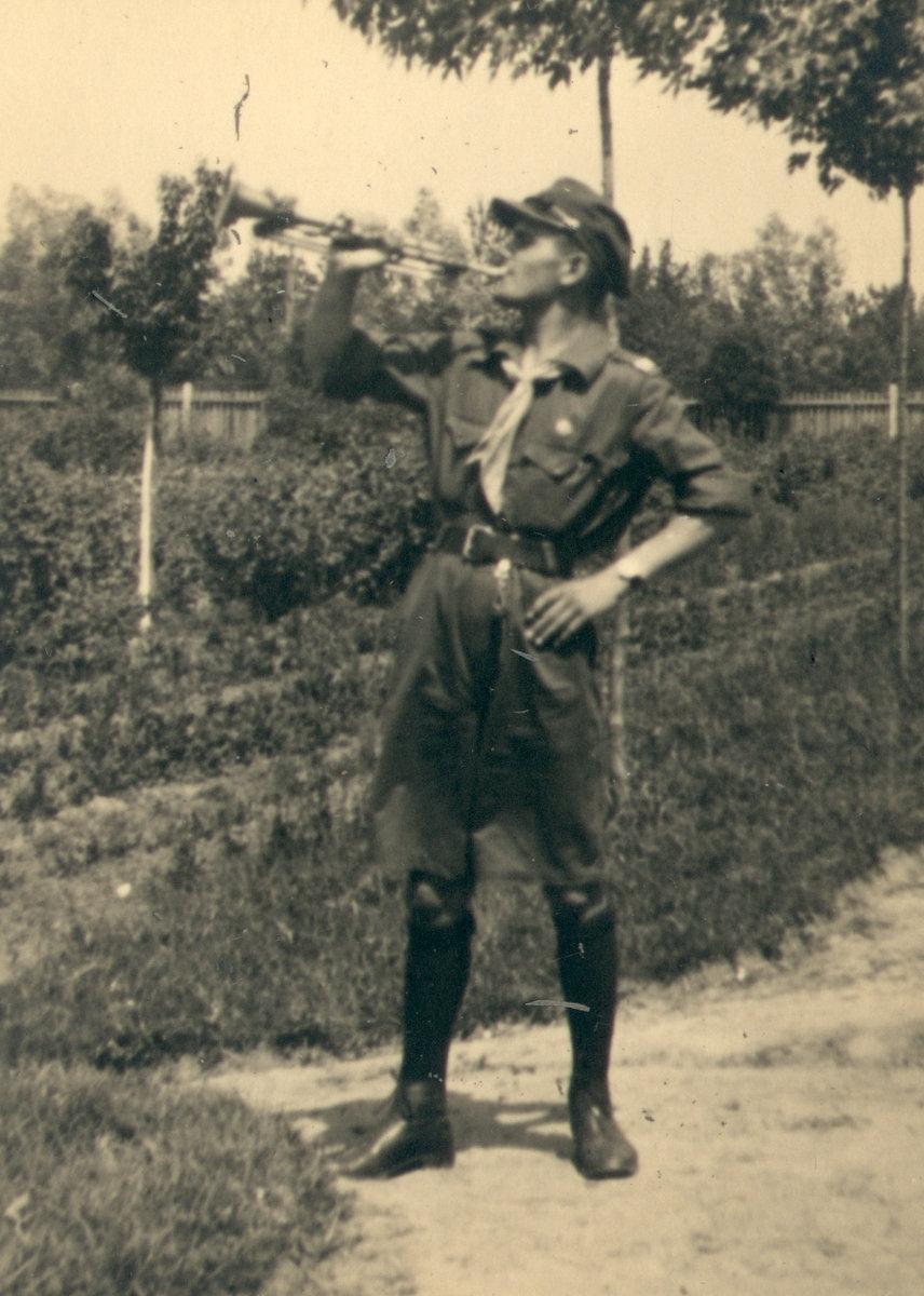 Henryk Rudziński - biwak w Klembowie, rok 1937