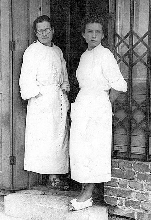 Halina Brzuszczyńska z dr Wandą Pruszyńską
