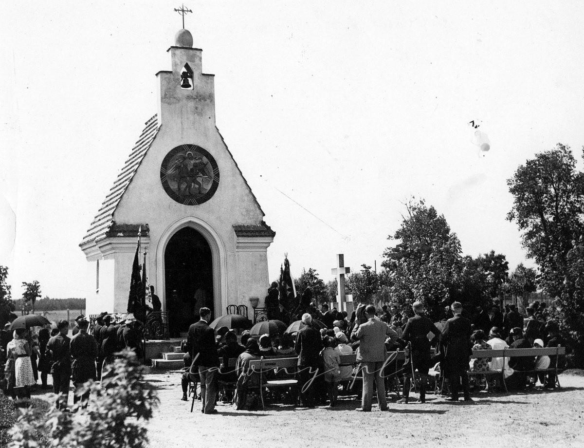 Uroczystości poświęcenia tablicy ku czci poległych w 1920r. w Radzyminie - rok 1931