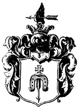 Rysunek 10. Wizerunek herbu Dołęga w herbarzu Niesieckiego [27].