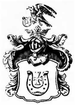 Rysunek 11. Wizerunek herbu Jastrzębiec w herbarzu Niesieckiego [27].