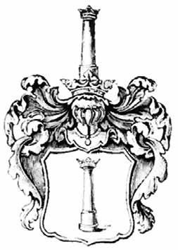 Rysunek 5. Wizerunek herbu Pierzchała (Kolumna) w herbarzu Niesieckiego [27].