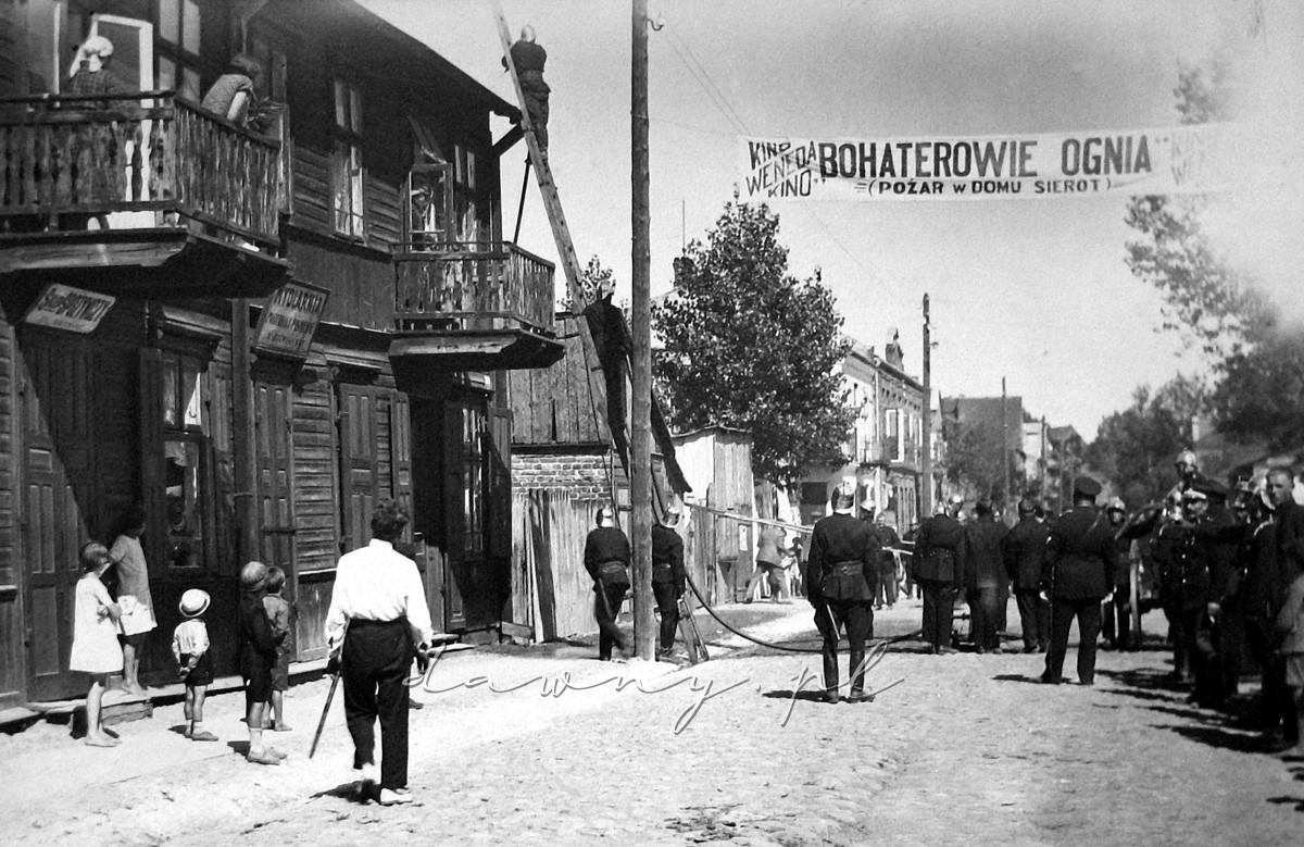 Nieistniejący obecnie budynek ul. Kościelna 23, rok 1928