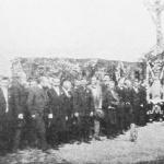 Ołtarz polowy, urządzony na miejscu poświęcenia kamienia węgielnego pod nowy kościół w Wołominie.