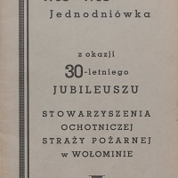 Jednodniówka OSP – rok 1938
