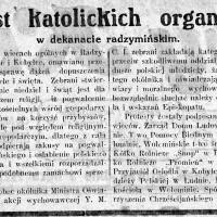 Protest katolickich organizacji w dekanacie radzymińskim