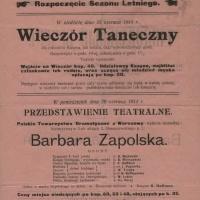 Rozoczęcie sezonu letniego 1914