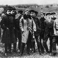 Komendant Piłsudski na manewrach peowiackich w 1917 roku w Zielonce pod Warszawą