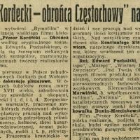 """""""Przeor Kordecki — Obrońca Częstochowy"""" na ekranie"""