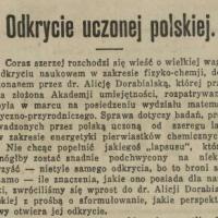 Odkrycie uczonej polskiej