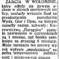 """Kierownictwo """"Huraganu"""" zawieszone"""