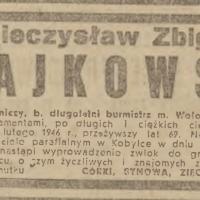 Pogrzeb Mieczysława Czajkowskiego