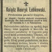 Ksiądz Henryk Łebkowski