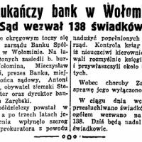 Oszukańczy bank w Wołominie. Sąd wezwał 138 świadków.