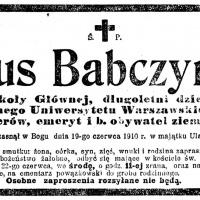 Zmarł Tytus Babczyński